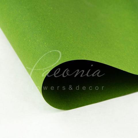 Папір Флористичний водостійкий листовий 54см*78см щільність 120г/м кв сніжок зелений