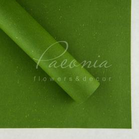 Папір для пакування квітів водостійкий щільний листовий сніжок зелений 54см * 78см