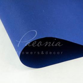 Папір для пакування квітів водостійкий щільний листовий сніжок синій 54см * 78см