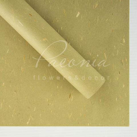 Папір Флористичний водостійкий листовий 60см*60см гірчичний