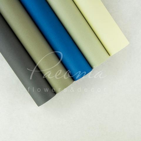 Папір Флористичний водостійкий листовий 60см*60см щільність 100г/м кв гладкий світло-сірий