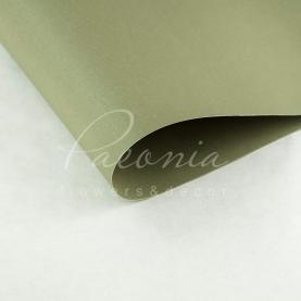 Папір для пакування квітів водостійкий щільний листовий гладкий сіро-оливковий 60см * 60см