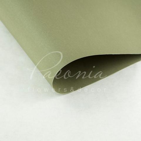 Папір Флористичний водостійкий листовий 60см*60см щільність 100г/м кв гладкий сіро-оливковий