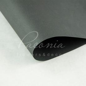 Папір для пакування квітів водостійкий щільний листовий гладкий темно-сірий 60см * 60см