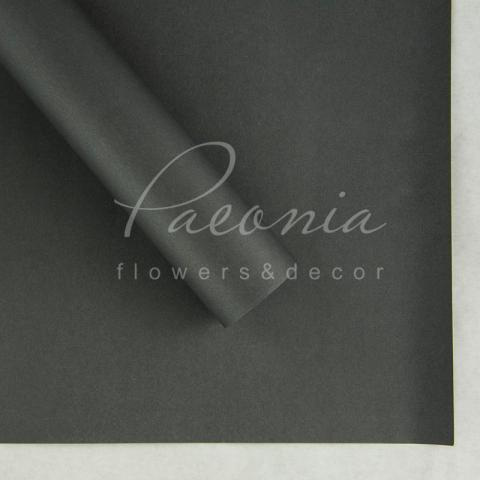 Папір Флористичний водостійкий листовий 60см*60см щільність 100г/м кв гладкий темно-сірий