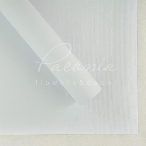 Папір Флористичний водостійкий листовий 60см*60см щільність 100г/м кв дрібне гофре білий