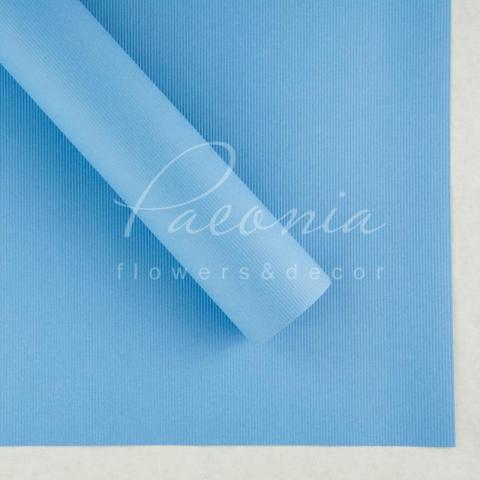 Папір Флористичний водостійкий листовий 60см*60см щільність 100г/м кв дрібне гофре блакитний