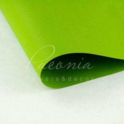 Папір Флористичний водостійкий листовий 60см*60см щільність 100г/м кв дрібне гофре салатовий