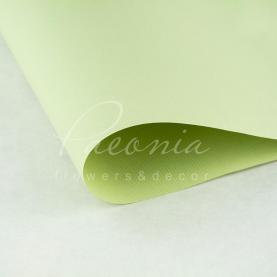 Папір для пакування квітів водостійкий щільний листовий дрібний гофре салатовий 60см * 60см