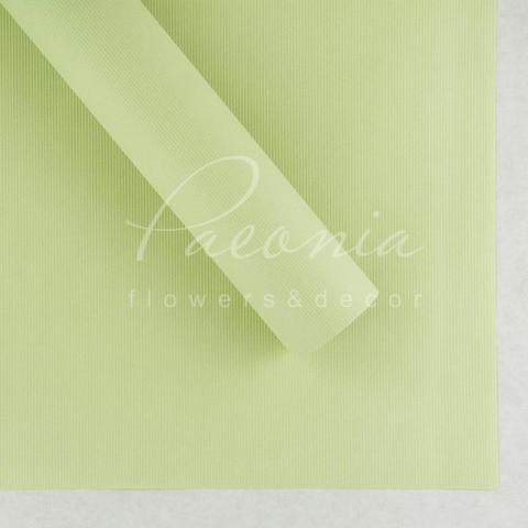 Папір Флористичний водостійкий листовий 60см*60см щільність 100г/м кв дрібне гофре світло-салатов