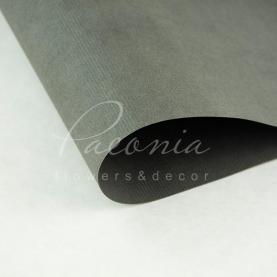 Папір для пакування квітів водостійкий щільний листовий дрібний гофре темно-сірий 60см * 60см