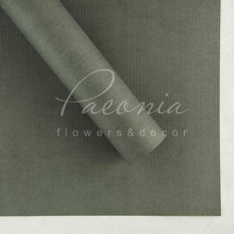 Папір Флористичний водостійкий листовий 60см*60см щільність 100г/м кв дрібне гофре темно-сірий