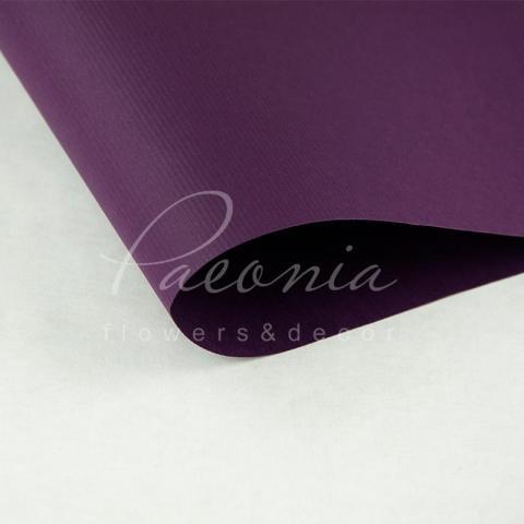 Папір Флористичний водостійкий листовий 60см*60см щільність 100г/м кв дрібне гофре темно-сиреневы