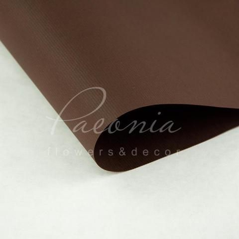 Папір Флористичний водостійкий листовий 60см*60см щільність 100г/м кв дрібне гофре шоколадний