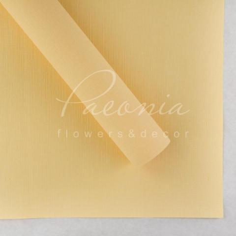 Папір Флористичний водостійкий листовий 60см*60см щільність 100г/м кв Мішковина жовтий
