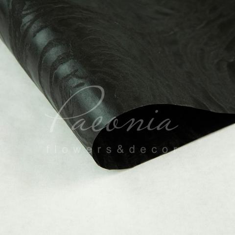 Флизелин водостойкий Круги черный 1 лист 60*60см