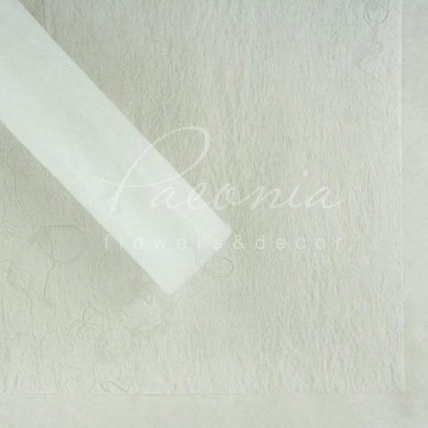 Флизелин водостойкий 60*60см с разводами белый1 лист