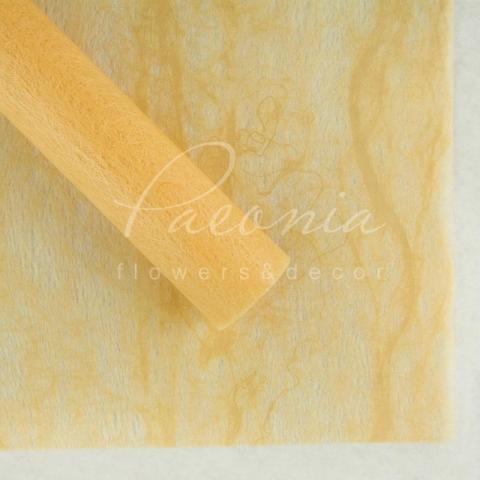 Флизелин водостойкий 60*60см с разводами кремовый 1 лист