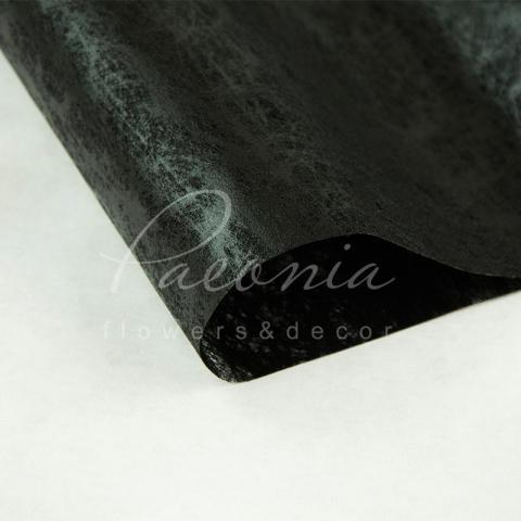 Флизелин водостойкий с разводами черный 1 лист  60*60см