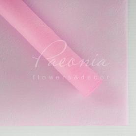 Флизелин водостойкий листовой с разводами и блеском розовый 60см*60см