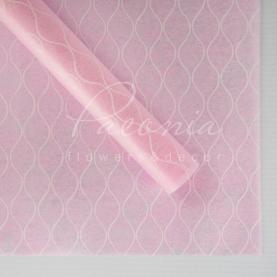 Флізелін Флористична листова 60см*60см стільники рожевий