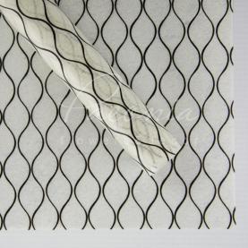 Флізелін флористичний листовий стільники чорний з білим 60см * 60см