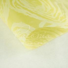 Флизелин флористический водостойкий листовой с принтом круги желтый 60см*60см