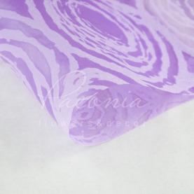 Флізелін флористичний водостійкий листовий з принтом круги лавандовий 60см * 60см