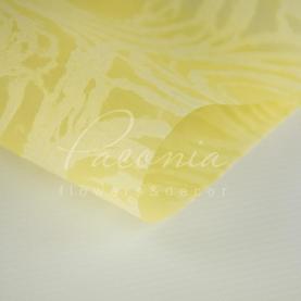 Флізелін флористичний водостійкий листовий з принтом круги ніжно-жовтий 60см * 60см