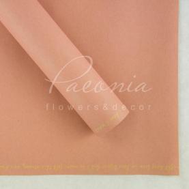 Папір для пакування квітів водостійкий щільний листовий з написом по краю рожевий 60см * 60см