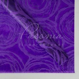 Флизелин флористический водостойкий листовой 60см*60см с принтом круги фиолетовый