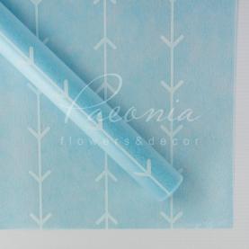 Флизелин флористический листовой лапки голубой 60см*60см