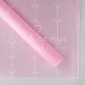 Флізелін флористичний листовий лапки рожевий 60см * 60см