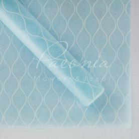 Флізелін Флористичний листовий 60см*60см стільники блакитний