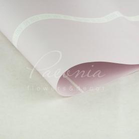 Папір Флористичний водостійкий листовий 60см*60см щільність 100г/м кв з принтом Love лавандовий