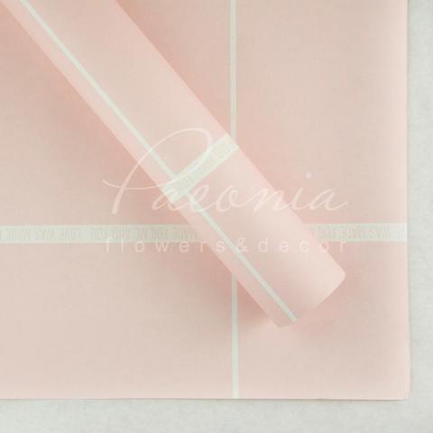 Папір Флористичний водостійкий листовий 60см*60см щільність 100г/м кв з принтом Love рожевий