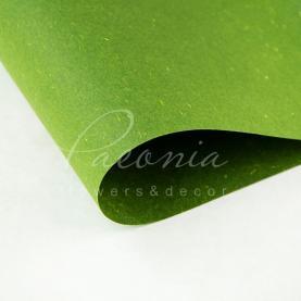 Папір для пакування квітів водостійкий щільний листовий сніжок зелений 60см * 60см