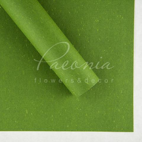 Папір Флористичний водостійкий листовий 60см*60см щільність 100г/м кв сніжок зелений