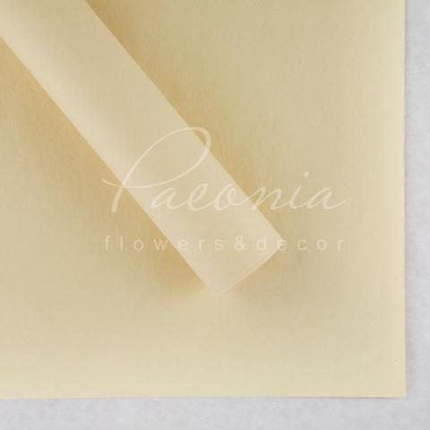 Папір Флористичний водостійкий листовий 60см*60см щільність 100г/м кв сніжок кремовий