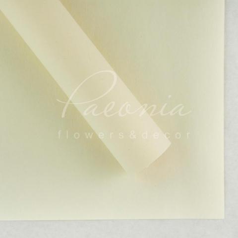 Папір Флористичний водостійкий листовий 60см*60см щільність 100г/м кв сніжок молочный