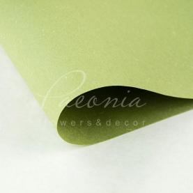 Папір для пакування квітів водостійкий щільний листовий сніжок оливковий 60см * 60см