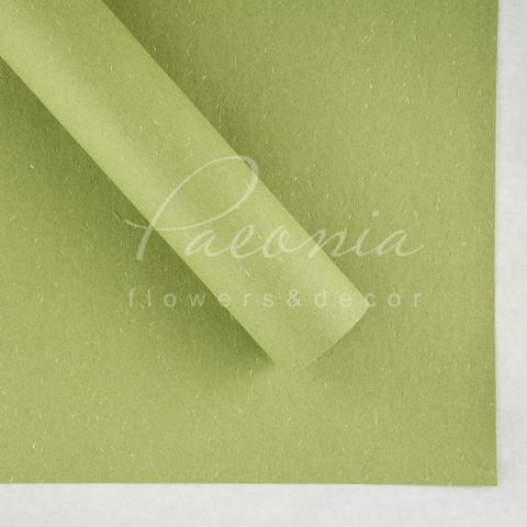 Папір Флористичний водостійкий листовий 60см*60см щільність 100г/м кв сніжок оливковий