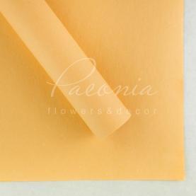 Бумага флористическая водостойкая листовая 60см*60см плотность 100г/м кв снежок персиковый