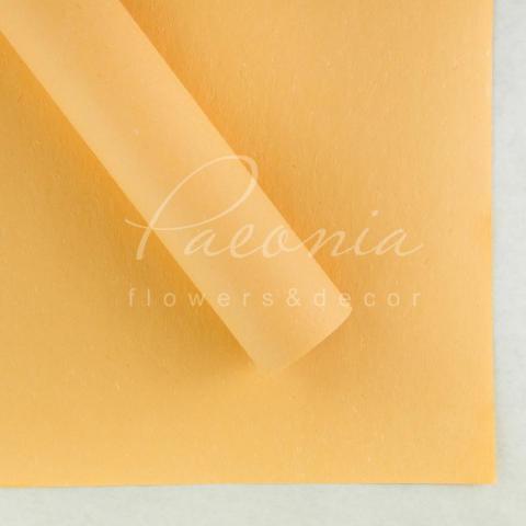 Папір Флористичний водостійкий листовий 60см*60см щільність 100г/м кв сніжок персиковий