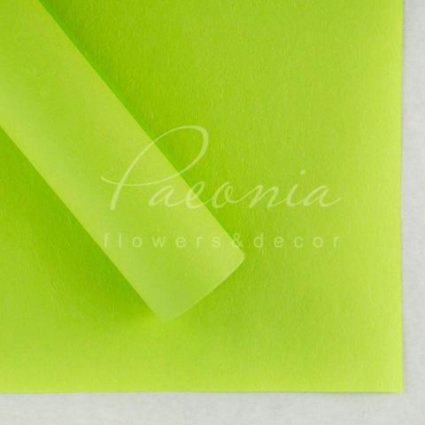 Папір Флористичний водостійкий листовий 60см*60см щільність 100г/м кв сніжок салатовий