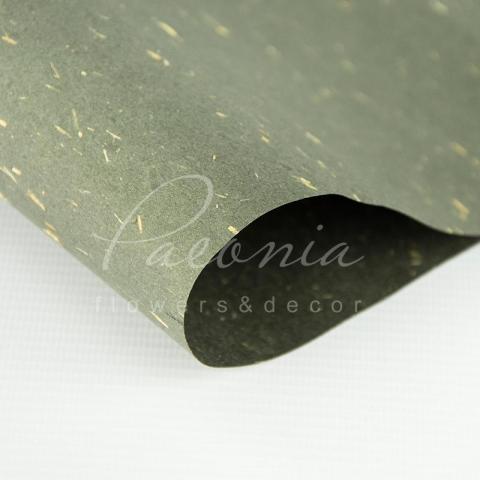 Папір Флористичний водостійкий листовий 60см*60см сірий металік