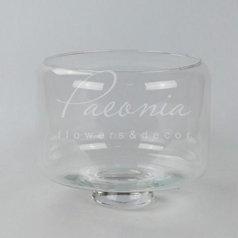 Ваза з прозорого скла Vase on voet Grande Ø24см H20см