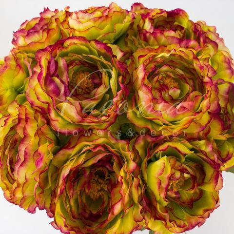 Цветок искусственный Ranonkel бургуди 42 см