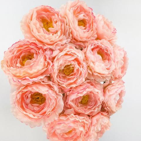 Цветок искусственный Ranonkel розовый 42 см