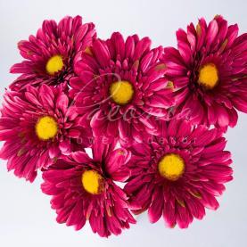 Цветок искусственный Гербера бордо 60см
